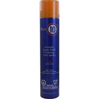 It's a 10 Miracle Super Hold Finishing Hair Spray Plus Keratin, 10 oz