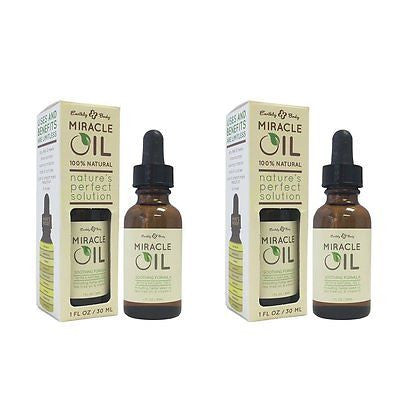 Earthly Body Miracle Oil, 1 oz (Pack of 2) - BEAUTY IT IS