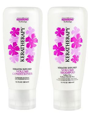 Keratherapy Keratin Infused Volume Shampoo & Conditioner, 10.1 oz