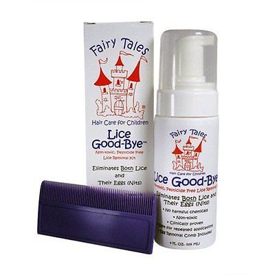 Fairy Tales Lice Good-Bye Non-Toxic Pesticide Free Lice Removal Kit, 4 oz