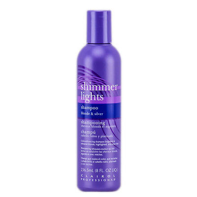 Clairol Shimmer Lights Shampoo Blonde & Silver, 8 Oz
