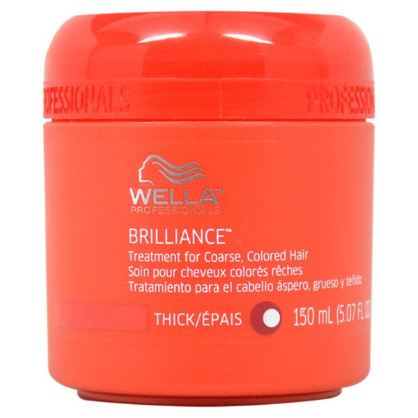 Wella Coarse Colored Hair Brilliance Treatment for Unisex, 5.07 Ounce - BEAUTY IT IS