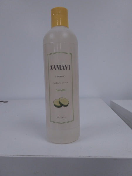 Zamavi Cucumber Shampoo For All Hair Types  16 Ounce