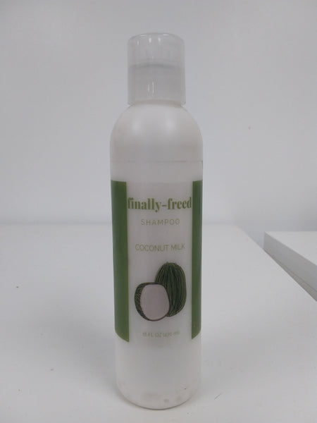finally-freed Shampoo For All Hair Types - With Coconut Milk - 16 Ounce