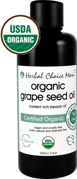 Herbal Choice Mari Organic Grape Seed Oil 100ml/ 3.4 oz