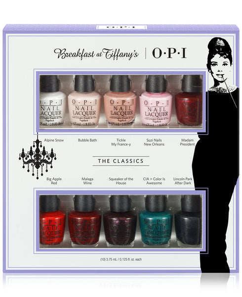 OPI mini set - Breakfast at Tiffany's Collection 2016, 10 Pc