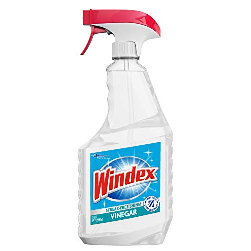Windex Glass Cleaner Trigger Bottle, Vinegar, 23 fl oz