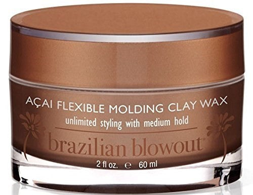 Brazilian Blowout Acai Flexible Molding Clay Hair Wax, 30 ml