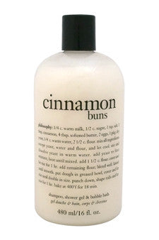Cinnamon Buns 3-In-1 Bath & Shower Gel by Philosophy 16 oz  Shower Gel for Unisex