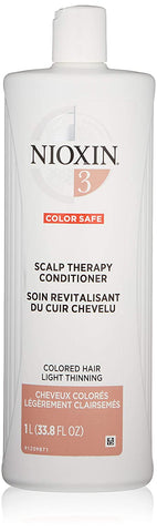 Nioxin Scalp Therapy Conditioner, System 3 (Color Treated Hair/Normal to Light Thinning) 33.8 Oz