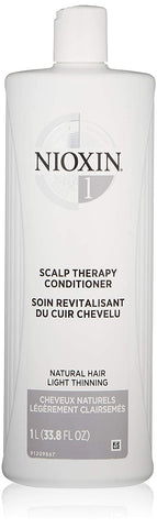 Nioxin System 1 Scalp Therapy Conditioner for Natural Hair with Light Thinning, 33.8 oz