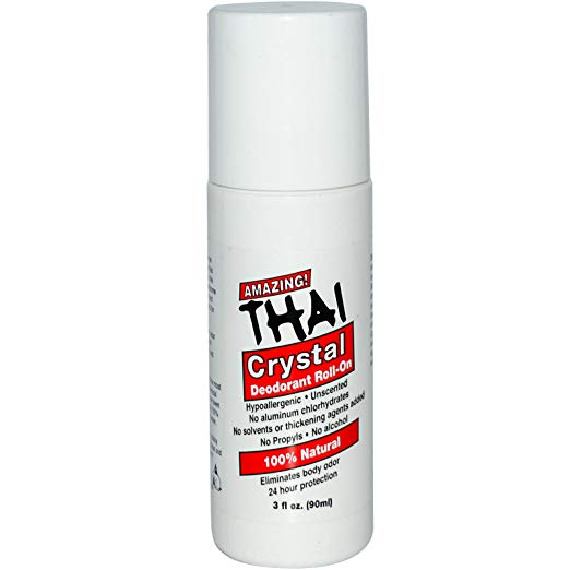 Thai Crystal Deodorant, Roll On, 3 oz.