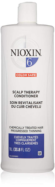 Nioxin Scalp Therapy Conditioner, System 6 (Chemicially Treated Hair/Progressed Thinning) 33.8 Oz