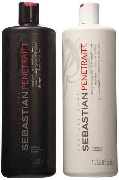 Sebastian Penetraitt Strengthening and Repair Shampoo & Conditioner Liter Set