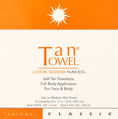 Tan Towel Self Tan Towelette Classic Full Body Application 5 Count