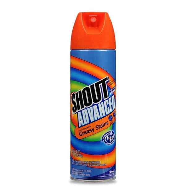 Shout Advanced Foam Aerosol, 18 Ounce