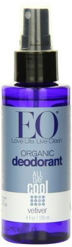 EO Organic Deodorant Spray, Vetiver, 4 Fluid Ounce