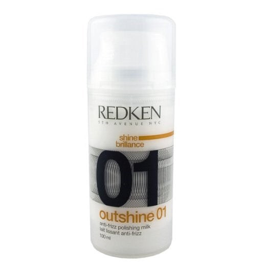 Redken Outshine 01, Anti-Frizz Polishing Milk Styling Hair Styling Serum, 3.4-ounce