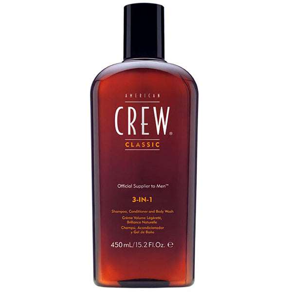 American Crew Classic 3-in-1 Shampoo, Conditioner & Body Wash, 15.2 oz - BEAUTY IT IS