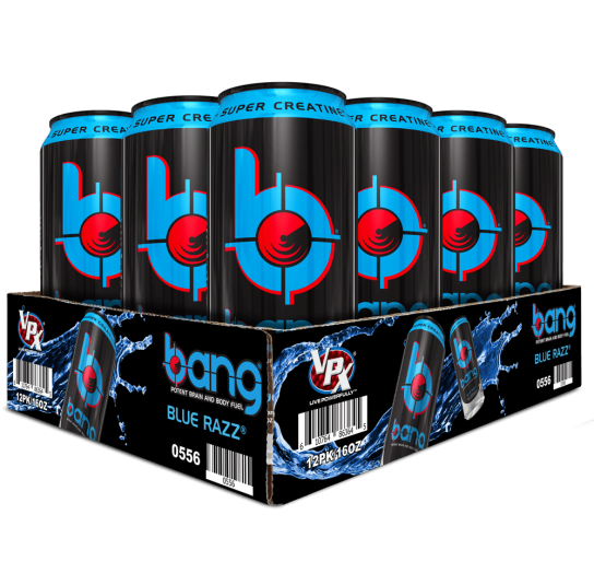 Bang Blue Razz Energy Drink 16 ounces, 12 pack