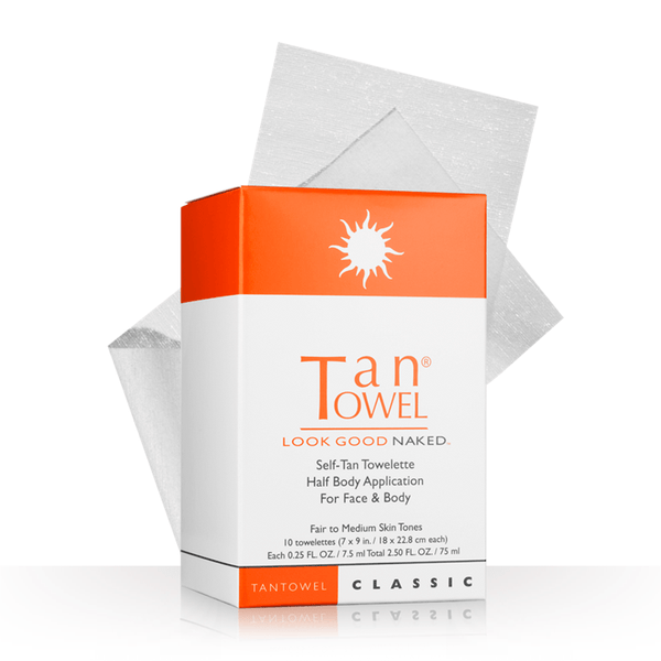 Tan Towel Self Tan Towelette Classic Half Body Application 10 Count