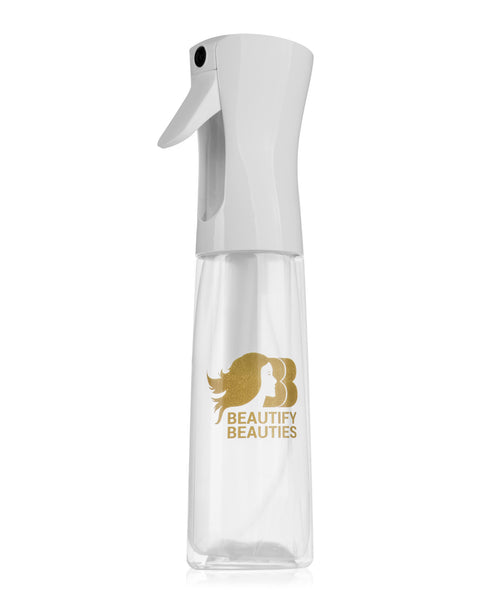Beautify Beauties Flairosol Spray Bottle - 10 Oz. Empty Clear Bottle with Revolutionary Sprayer Design