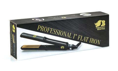 Beautify Beauties 1 inch Ceramic Tourmaline Flat Iron - BEAUTY IT IS - 3