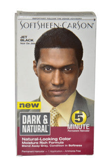 5 Minute Permanent Haircolor # Jet Black by Dark & Natural 1 Application  Hair Color for Men
