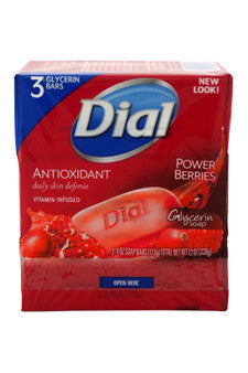 Cranberry & Antioxidant Glycerin Soap by Dial 3 x 4 oz  Soap for Unisex