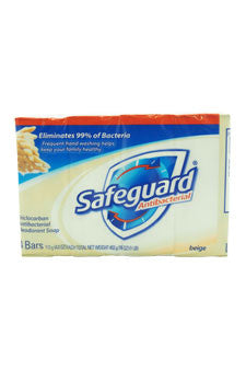Safeguard Deodorant Antibacterial Deodorant Soap Beige by Safeguard 4 x 4 oz  Bar Soap for Unisex