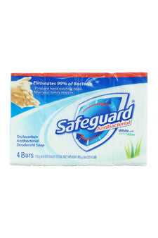 Safeguard Deodorant Antibacterial Deodorant Soap White by Safeguard 4 x 4 oz  Bar Soap for Unisex