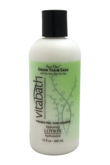 Green Tea & Sage Hydrating Lotion by Vitabath 12 oz  Lotion for Unisex