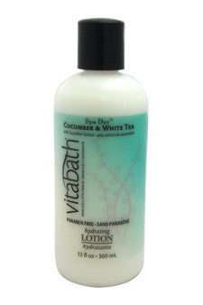 Cucumber & White Tea Hydrating Lotion by Vitabath 12 oz  Lotion for Unisex