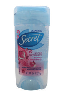 Scent Expression Clear Gel Dodorant So Very Summerberry by Secret 2.6 oz  Deodorant Stick for Unisex