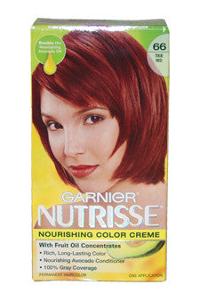 Nutrisse Nourishing Color Creme #66 True Red by Garnier 1 Application  Hair Color for Unisex