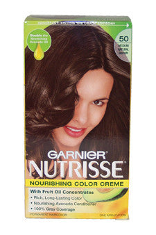 Nutrisse Nourishing Color Creme #50 Medium Natural Brown by Garnier 1 Application  Hair Color for Unisex