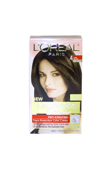 Excellence Creme Pro - Keratine # 4 Dark Brown - Natural by L'Oreal Paris 1 Application  Hair Color for Unisex