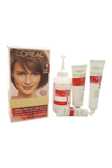 Excellence Creme Pro - Keratine # 6 Light Brown - Natural by L'Oreal Paris 1 Application  Hair Color for Unisex