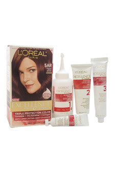 Excellence Creme Pro - Keratine # 5AR Medium Maple Brown - Warmer by L'Oreal Paris 1 Application  Hair Color for Unisex