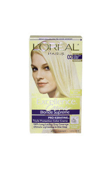 Excellence Creme Blonde Supreme #02 High-Lift Extra Light Natural Blonde-Natural by L'Oreal Paris 1 Application  Hair Color for Unisex