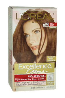 Excellence Creme Pro - Keratine # 6RB Light Reddish Brown - Warmer by L'Oreal Paris 1 Application  Hair Color for Unisex