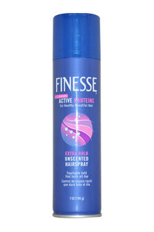 Self Adjusting Extra Hold Unscented Hair Spray by Finesse 7 oz  Hair Spray for Unisex