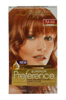 Superior Preference - 7LA Lightest Auburn (Warmer) by L'Oreal Paris 1 Pack  Hair Color for Unisex