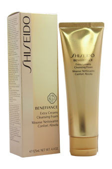 Benefiance Wrinkle Resist24 Extra Cream Cleansing Foam by Shiseido 4.4 oz  Cleansing Foam for Unisex