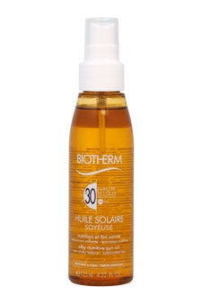 Huile Solaire Soyeuse SPF 30 - Silky Nutritive Sun Oil by Biotherm 4.22 oz  Oil for Unisex