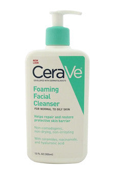 Foaming Facial Cleanser - Normal To Oily Skin by CeraVe 12 oz  Cleanser for Unisex