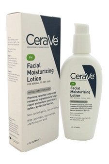 Facial Moisturizing Lotion PM - Normal To Dry Skin by CeraVe 3 oz  Lotion for Unisex