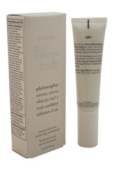 No Reason To Hide Instant Skin-Tone Perfecting Moisturizer SPF20-Light by Philosophy 1 oz  Sunscreen for Women