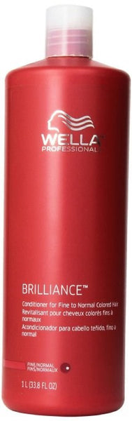 Wella Brilliance Conditioner for Fine To Normal Hair for Unisex, 33.8 Ounce - BEAUTY IT IS