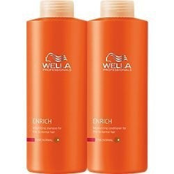 Wella Enrich Shampoo & Conditioner Coarse Hair, Liter Duo 33.8 Oz - BEAUTY IT IS